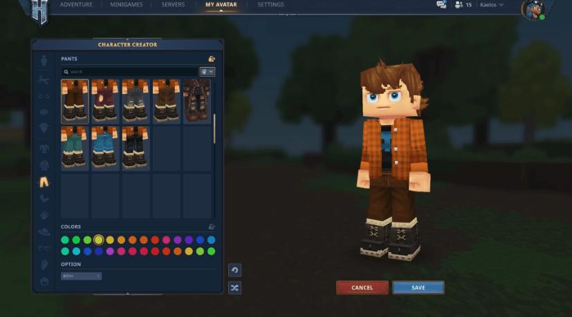 Hytale personalización de personaje