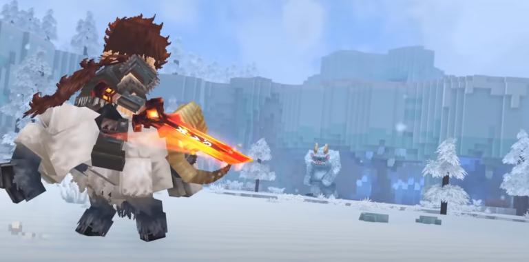 Yeti en el trailer de Hytale