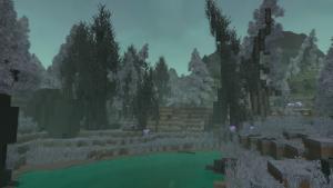 Bosque fantasma perteneciente a Tierras devastadas en Hytale