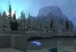 Bosque nevado en Borea