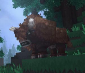 Bisonte mob de Hytale